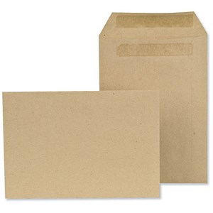 Image of New Guardian Lightweight C5 Pocket Envelopes / Manilla / Press Seal / 80gsm / Pack of 500