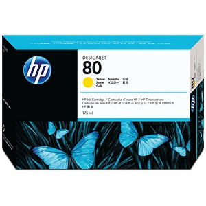 Image of HP 80 Yellow Ink Cartridge