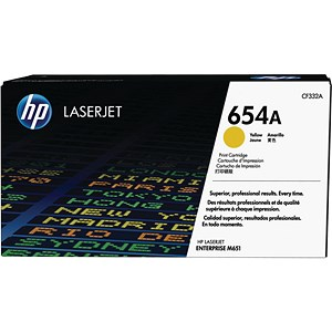 Image of HP 654A Yellow LaserJet Toner Cartridge