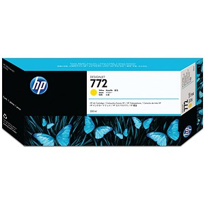 Image of HP 772 DesignJet Yellow Ink Cartridge