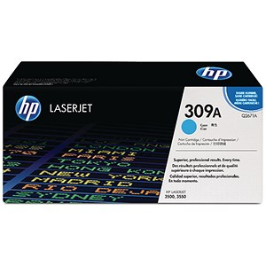 Image of HP 309A Cyan Laser Toner Cartridge