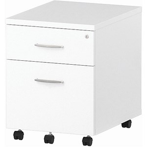 Image of Impulse 2-Drawer Mobile Pedestal - White