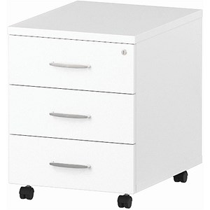 Image of Impulse 3-Drawer Mobile Pedestal - White