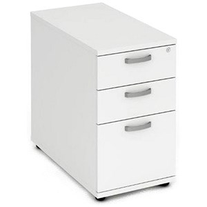 Image of Impulse 3-Drawer Desk High Pedestal / 800mm Deep / White