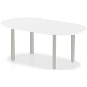 Image of Impulse Boardroom Table / 1800mm Wide / White