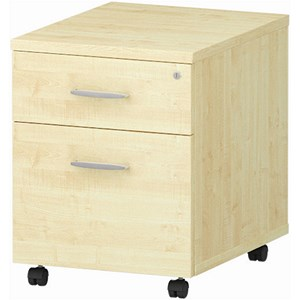 Image of Impulse 2-Drawer Mobile Pedestal - Maple