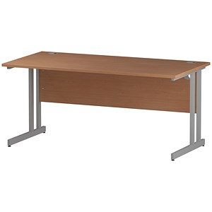 Image of Impulse Rectangular Desk / 1600mm Wide / Beech