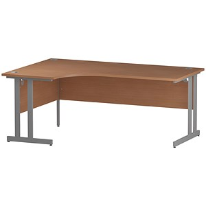 Image of Impulse Radial Desk / Left Hand / 1800mm Wide / Beech