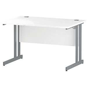 Image of Impulse Rectangular Desk / 1200mm Wide / White