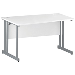 Image of Impulse Wave Desk / Left Hand / 1400mm Wide / White