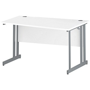 Image of Impulse Wave Desk / Right Hand / 1400mm Wide / White