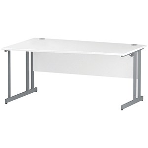 Image of Impulse Wave Desk / Left Hand / 1600mm Wide / White