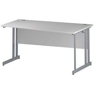 Image of Impulse Wave Desk / Right Hand / 1600mm Wide / White