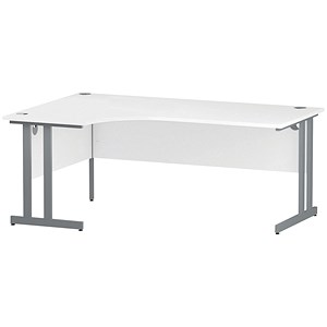 Image of Impulse Radial Desk / Left Hand / 1800mm Wide / White