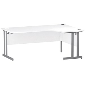 Image of Impulse Radial Desk / Right Hand / 1800mm Wide / White