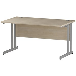 Image of Impulse Rectangular Desk / 1400mm Wide / Maple