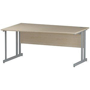 Image of Impulse Wave Desk / Left Hand / 1600mm Wide / Maple
