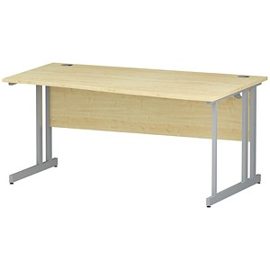 Image of Impulse Wave Desk / Right Hand / 1600mm Wide / Maple