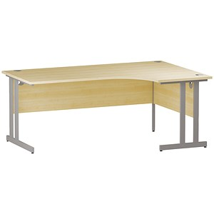 Image of Impulse Radial Desk / Right Hand / 1800mm Wide / Maple