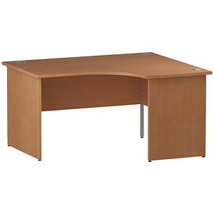 Image of Impulse Panel End Corner Desk / Right Hand / 1600mm Wide / Beech
