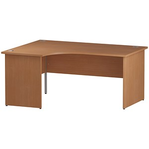 Image of Impulse Panel End Radial Desk / Left Hand / 1800mm Wide / Beech