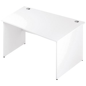 Image of Impulse Panel End Wave Desk / Right Hand / 1400mm Wide / White