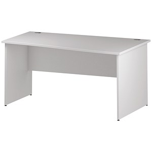 Image of Impulse Panel End Wave Desk / Right Hand / 1600mm Wide / White