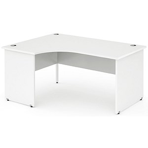Image of Impulse Panel End Radial Desk / Left Hand / 1400mm Wide / White