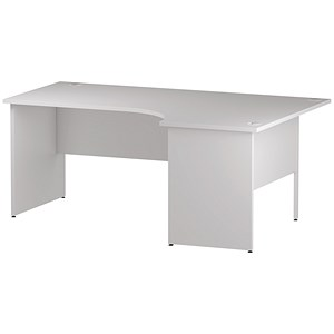 Image of Impulse Panel End Corner Desk / Right Hand / 1800mm Wide / White