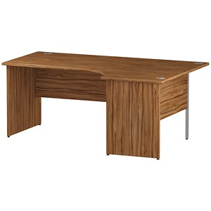 Image of Impulse Panel End Radial Desk / Right Hand / 1800mm Wide / Walnut
