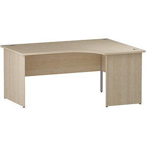 Image of Impulse Panel End Radial Desk / Right Hand / 1600mm Wide / Maple