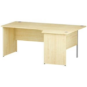 Image of Impulse Panel End Radial Desk / Right Hand / 1800mm Wide / Maple
