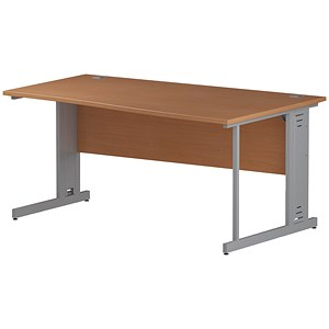 Image of Impulse Plus Wave Desk / Right Hand / 1600mm Wide / Beech