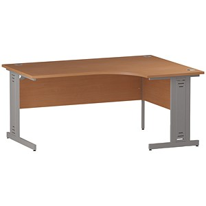 Image of Impulse Plus Radial Desk / Right Hand / 1600mm Wide / Beech