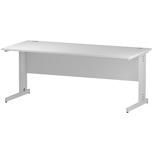 Image of Impulse Plus Rectangular Desk / 1800mm Wide / White