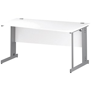Image of Impulse Plus Wave Desk / Right Hand / 1600mm Wide / White
