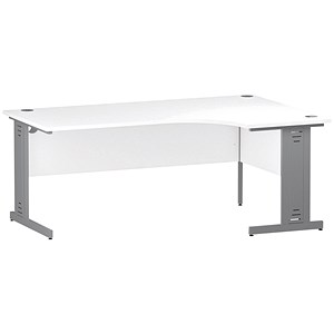 Image of Impulse Plus Corner Desk / Right Hand / 1800mm Wide / White
