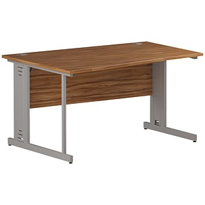 Image of Impulse Plus Wave Desk / Left Hand / 1400mm Wide / Walnut