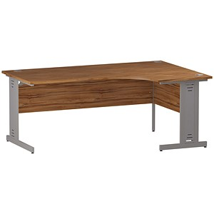 Image of Impulse Plus Radial Desk / Right Hand / 1800mm Wide / Walnut