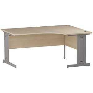 Image of Impulse Plus Radial Desk / Right Hand / 1600mm Wide / Maple