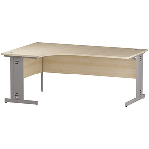 Image of Impulse Plus Corner Desk / Left Hand / 1800mm Wide / Maple