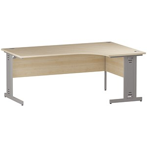 Image of Impulse Plus Radial Desk / Right Hand / 1800mm Wide / Maple