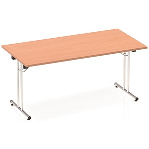 Image of Impulse Folding Rectangular Table / 1600mm Wide / Beech