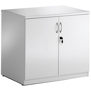 Image of Impulse Desk High Cupboard - High Gloss White