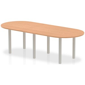 Image of Impulse Boardroom Table / 2400mm Wide / Oak