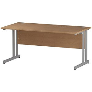 Image of Impulse Rectangular Desk / 1600mm Wide / Oak