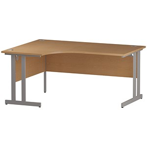 Image of Impulse Radial Desk / Left Hand / 1600mm Wide / Oak
