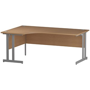 Image of Impulse Radial Desk / Left Hand / 1800mm Wide / Oak