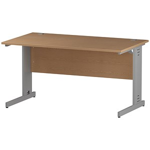 Image of Impulse Plus Rectangular Desk / 1400mm Wide / Oak