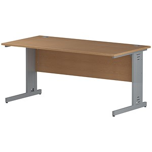 Image of Impulse Plus Rectangular Desk / 1600mm Wide / Oak